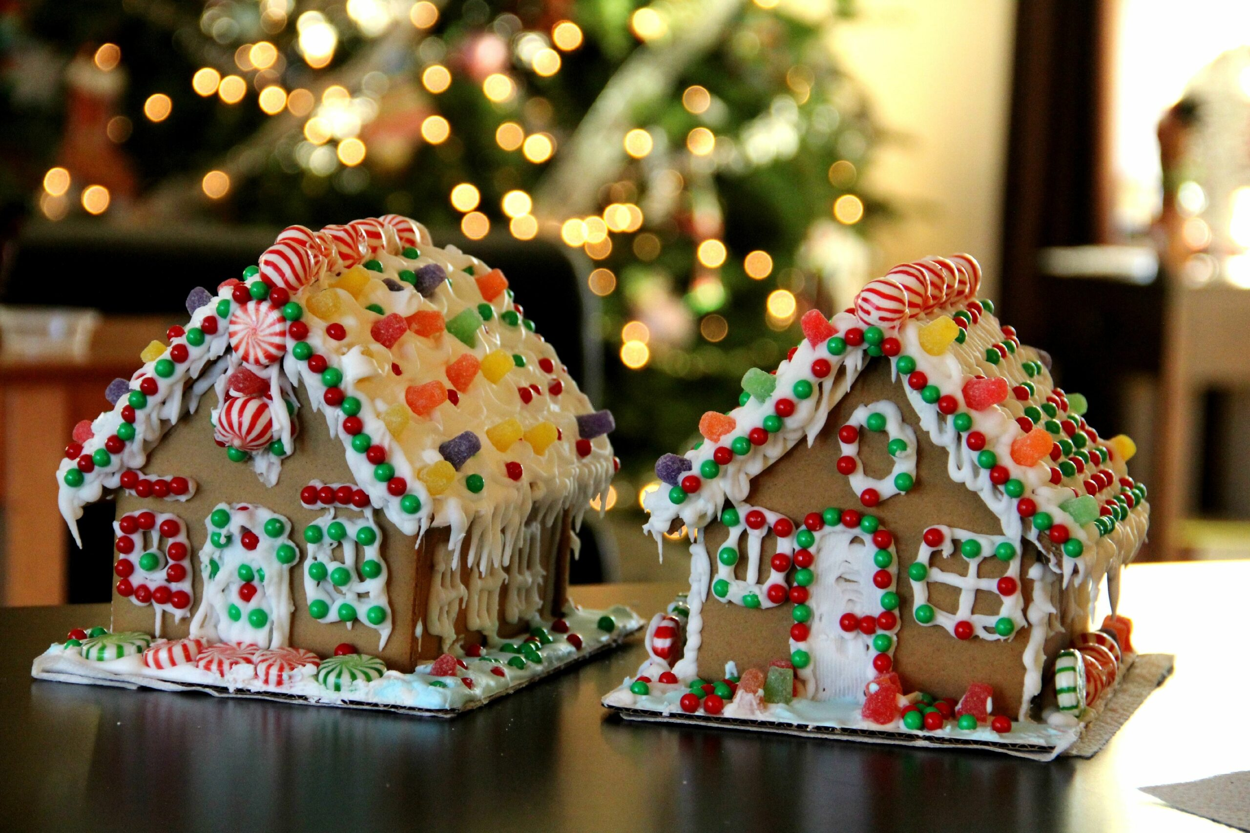 2 Made Up Gingerbread Houses
