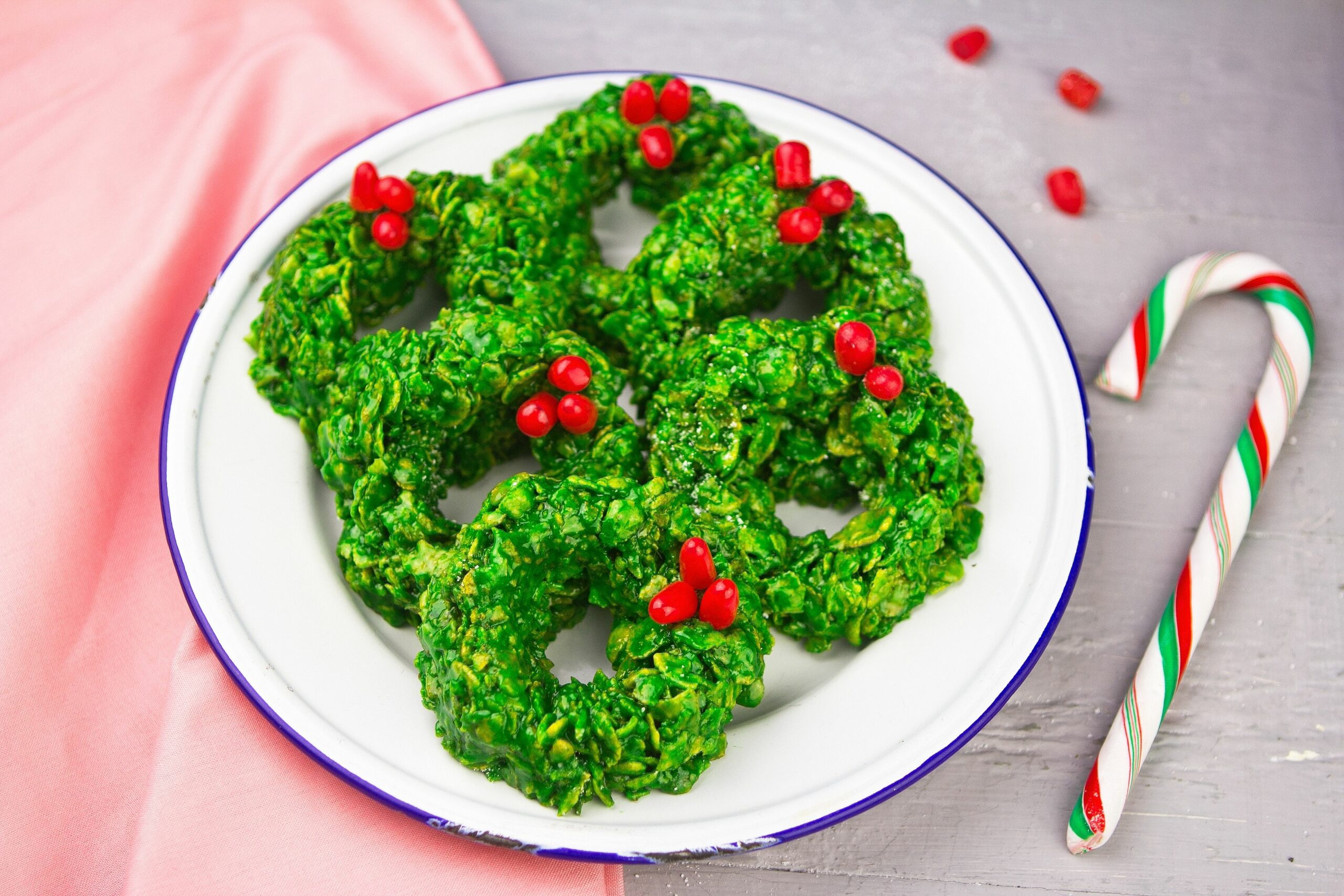 Christmas cookie in a wreath shaped called Holly Crackles