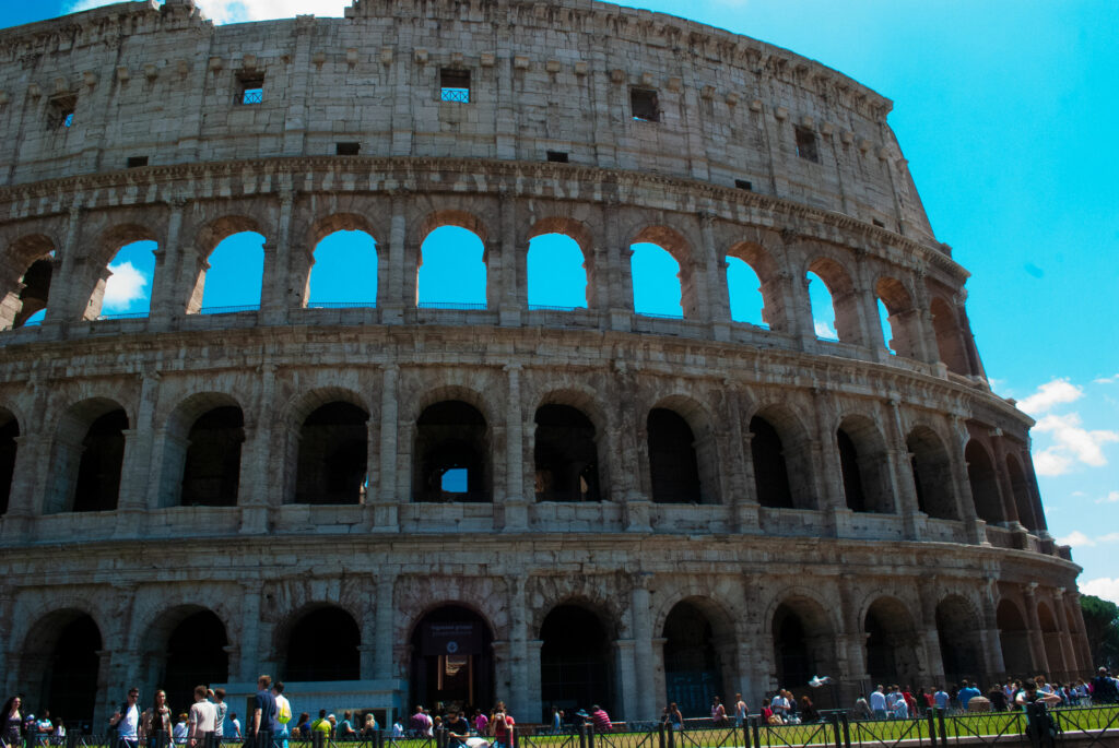 Visiting the Colosseum in Rome, Italy